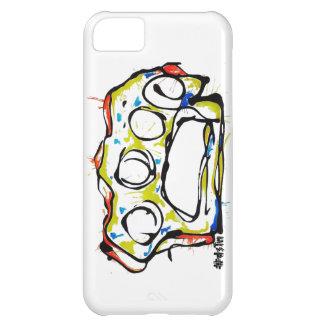 diseño de los nudillos de cobre amarillo del caso  carcasa para iPhone 5C