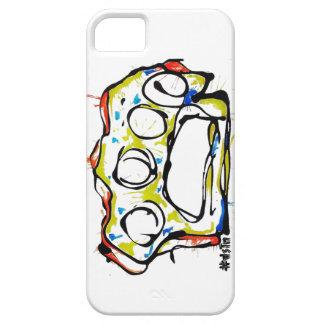 diseño de los nudillos de cobre amarillo del caso  iPhone 5 cobertura