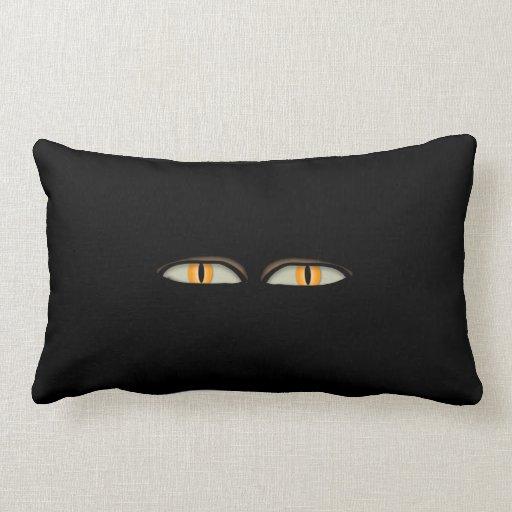 Diseño de los ojos de gatos almohada