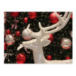 Diseño de los ornamentos del árbol de navidad del  tarjeta postal