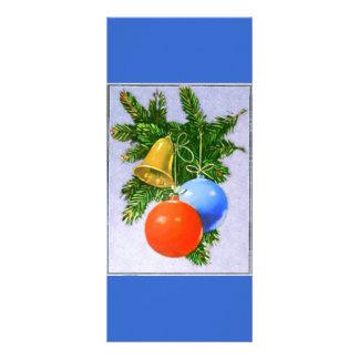 Diseño de los ornamentos del árbol de navidad tarjetas publicitarias