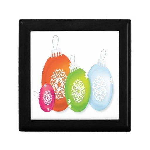 Diseño de los ornamentos del navidad cajas de recuerdo