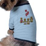 Diseño de los osos de la tarjeta del día de San Va Camisas De Perritos
