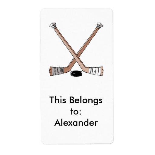 diseño de los palillos del duende malicioso y de etiquetas de envío