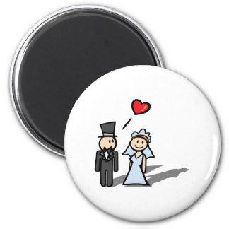Diseño de los pares del día de boda iman para frigorífico