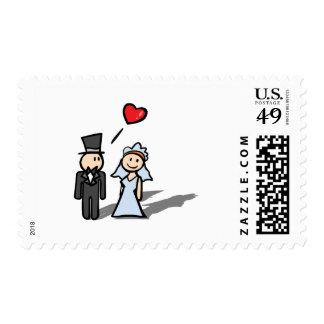 """""""Diseño de los pares del día de boda"""" Sellos"""