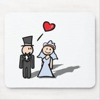 """""""Diseño de los pares del día de boda"""" Tapetes De Ratones"""
