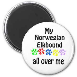Diseño de los paseos de Elkhound del noruego Imán De Frigorífico