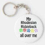 Diseño de los paseos de Rhodesian Ridgeback Llavero Redondo Tipo Pin