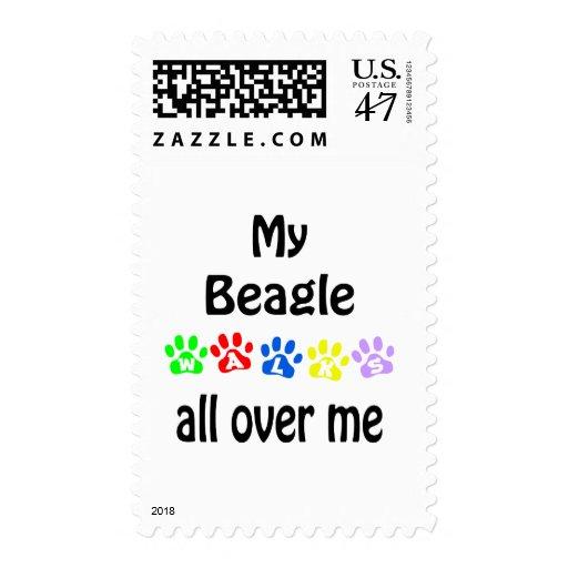 Diseño de los paseos del beagle sellos postales
