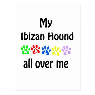 Diseño de los paseos del perro de Ibizan Postales