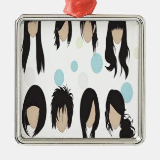Diseño de los peinados ornamentos de reyes