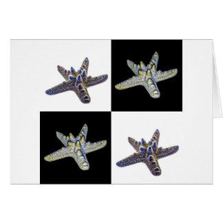 Diseño de los pescados de la estrella tarjeta de felicitación