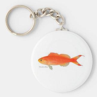 Diseño de los pescados del oro llavero redondo tipo pin