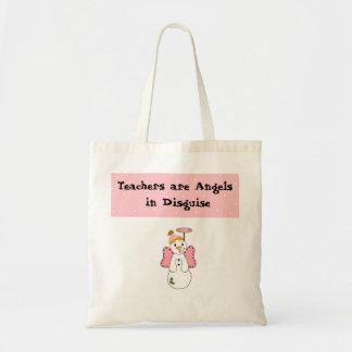 Diseño de los profesores del ángel de la nieve bolsa tela barata