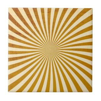 Diseño de los rayos del vintage azulejo cuadrado pequeño
