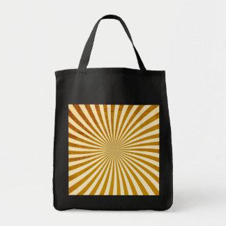 Diseño de los rayos del vintage bolsas de mano