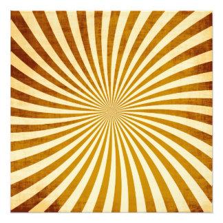 Diseño de los rayos del vintage impresiones fotograficas