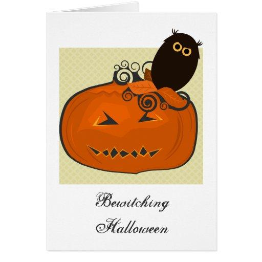 Diseño de los regalos de Halloween Tarjeta De Felicitación