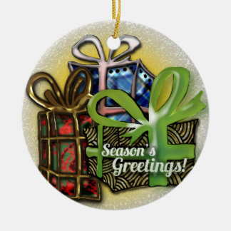 Diseño de los regalos de Navidad Adorno Navideño Redondo De Cerámica