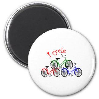 Diseño de los regalos del ciclista (el montar en b imán para frigorífico