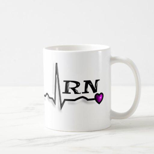 Diseño de los regalos QRS de la enfermera registra Tazas De Café