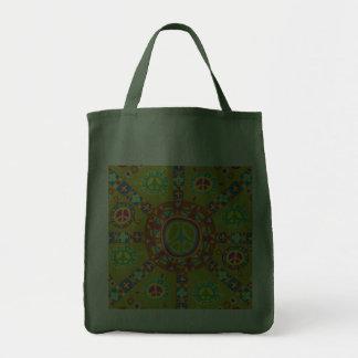 Diseño de los símbolos de paz bolsas