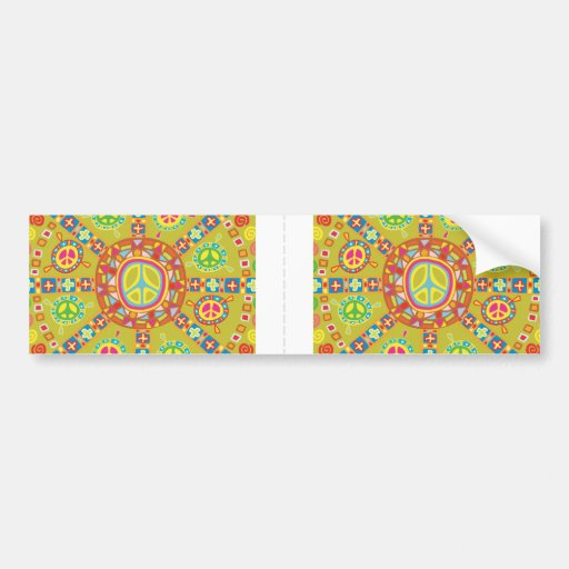 Diseño de los símbolos de paz pegatina de parachoque