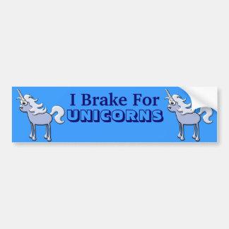 Diseño de los unicornios etiqueta de parachoque