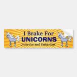 Diseño de los unicornios pegatina de parachoque