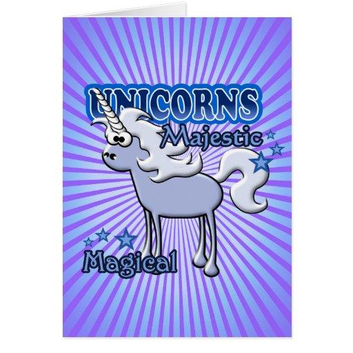 Diseño de los unicornios tarjetón