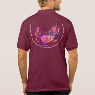 Diseño de Lotus del pétalo color de rosa del ganad Camisetas