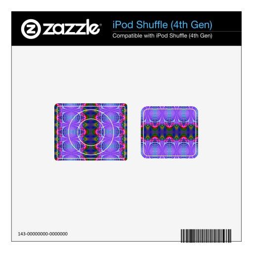 Diseño de lujo de la cinta azul skins para iPod shuffle 4G