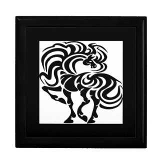 Diseño de lujo del caballo caja de joyas