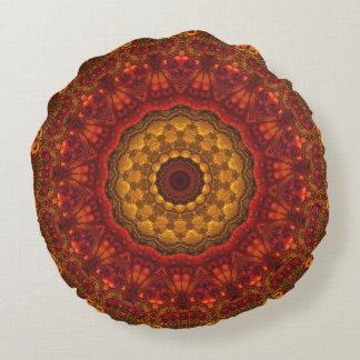 Diseño de lujo elegante de la mandala de los tonos cojín redondo