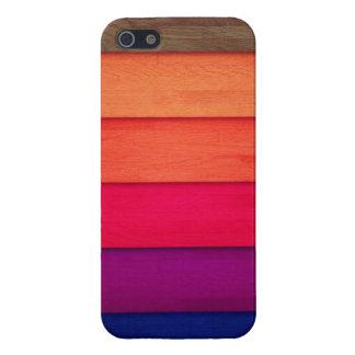 Diseño de madera coloreado iPhone 5 protectores