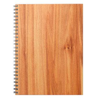 Diseño de madera de la textura libro de apuntes