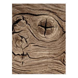 Diseño de madera de la textura tarjeta postal