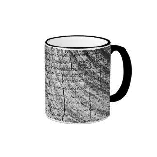 Diseño de madera del grano taza a dos colores