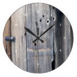 Diseño de madera del reloj del granero