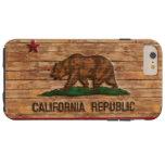 Diseño de madera del vintage de la bandera de la funda para iPhone 6 plus tough