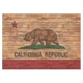 Diseño de madera del vintage de la bandera de la mantel de tela