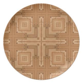 diseño de madera geométrico - modelo de madera del platos