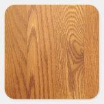 Diseño de madera ligero del grano pegatina cuadradas