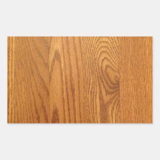 Diseño de madera ligero del grano pegatina rectangular
