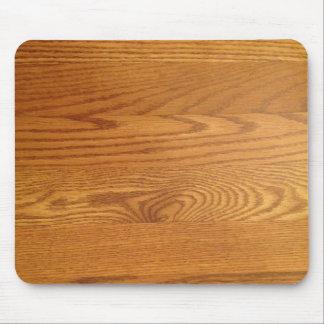 Diseño de madera ligero del grano alfombrilla de raton