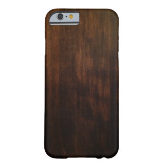 Diseño de madera oscuro antiguo funda para iPhone 6 barely there