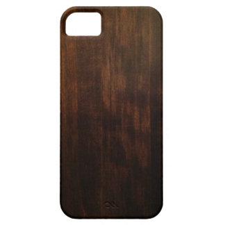 Diseño de madera oscuro antiguo iPhone 5 funda