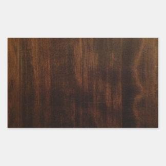 Diseño de madera oscuro antiguo rectangular altavoz