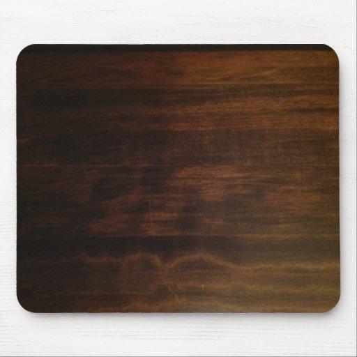 Diseño de madera oscuro antiguo tapetes de ratones